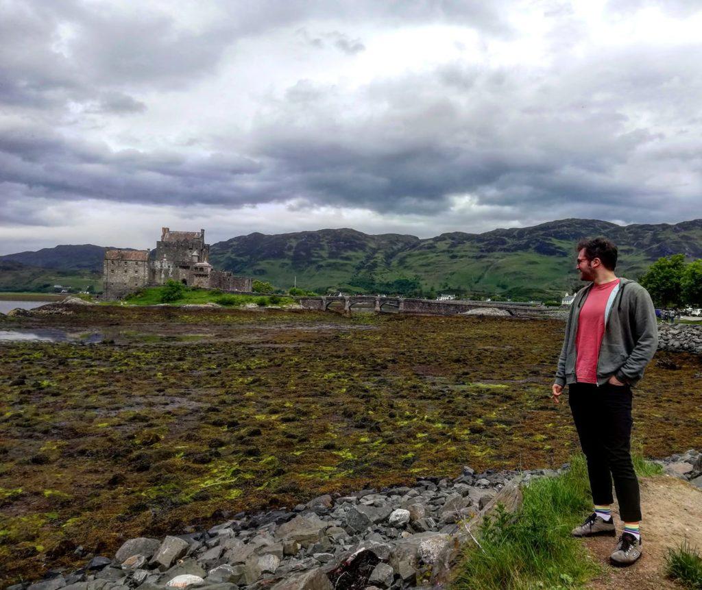 Il Castello Eilean Donan alle mie spalle durante la bassa marea.