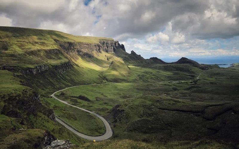 La fantastica vista dalla cime della Quirang, sull'isola di Skye.