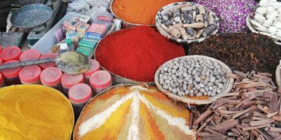 Coloratissime spezie al mercato di Rissani