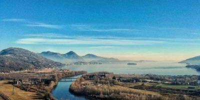 Visuale del Lago Maggiore dal Montorfano.