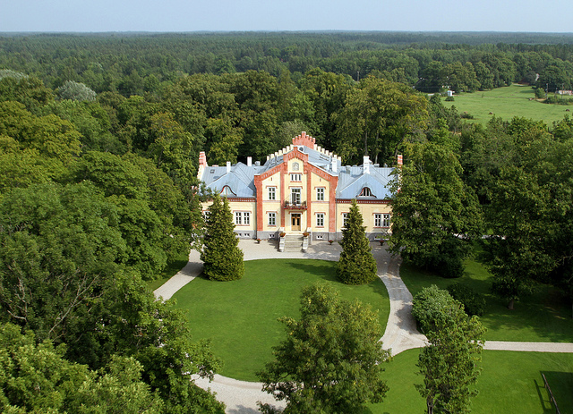 La residenza esterna di Pädeste Manor spa hotel estonia