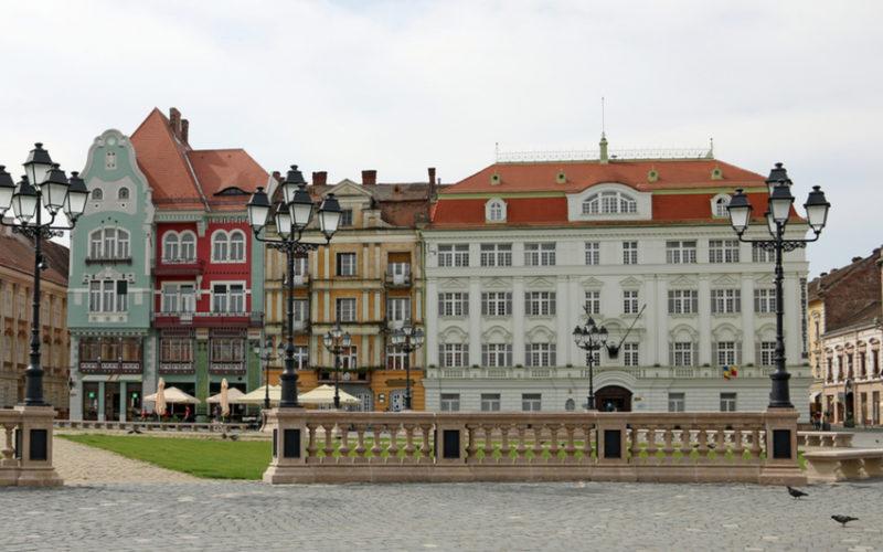 Immagine della Piata Unitii, la piazza principale di Timisoara.