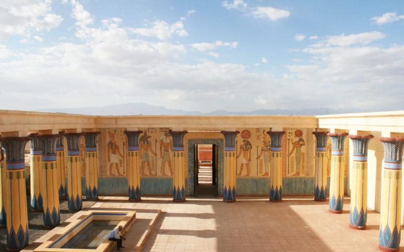 L'interno degli Studi Atlas a Ouarzazate.