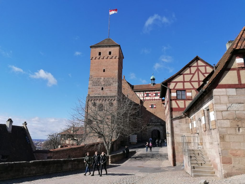 L'ingresso del castello di Norimberga.