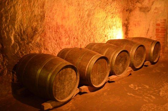 Il tunnel di conservazione della birra a Norimberga.