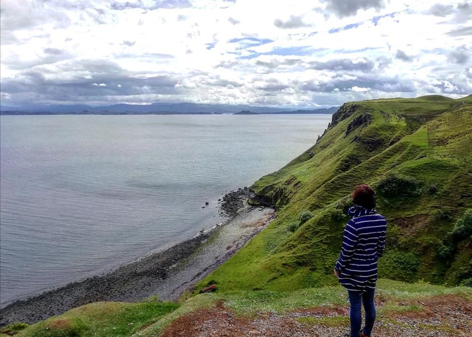 La costa dell'isola di Skye nei pressi della Kilt Rock.