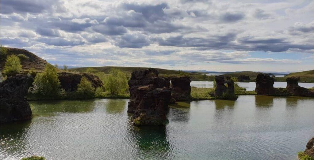Il lago Mývatn in bicicletta: le sponde del lago, perfette per il birdwatching.