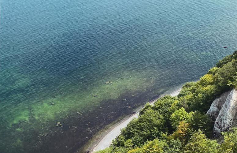 Le costa di Rügen ammirate dall´alto di una della piattaforme di avvistamento.