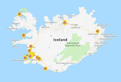 La mappa dei supermercati Bonus sull'isola.