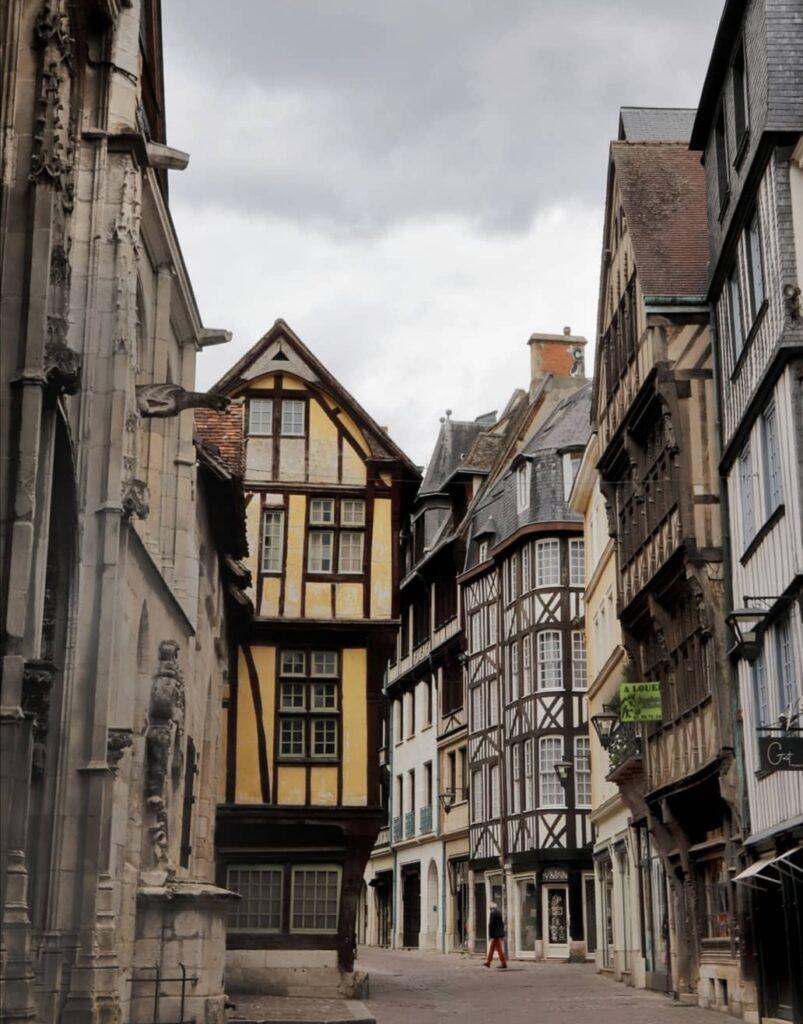 Città vecchia Rouen capitale della Normandia.