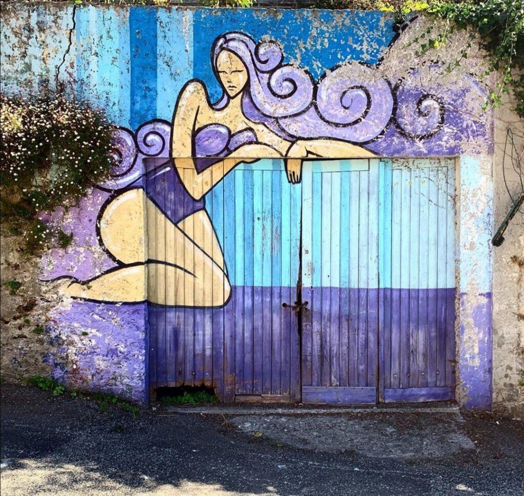Visitare Brest in Bretagna, Murales nelle vicinanze di Roue St.Malo