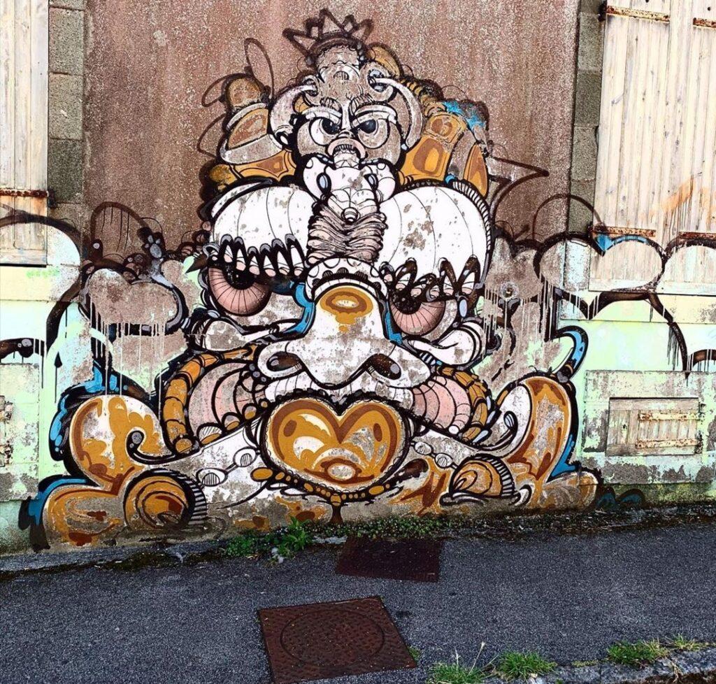 Visitare Brest in Bretagna: altro murales nelle vicinanze di Roue St.Malo