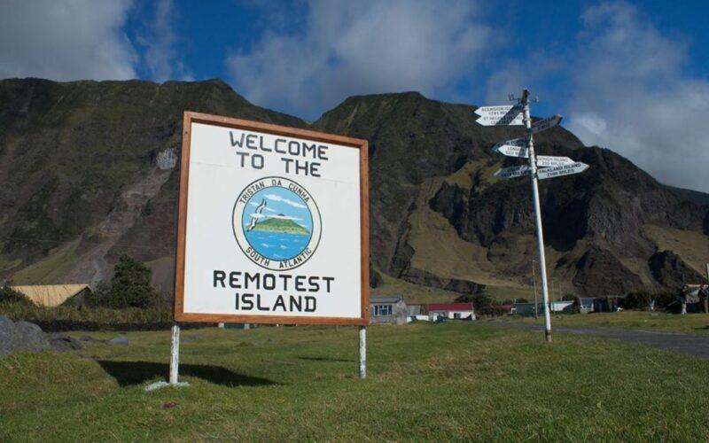 Tristan da Cunha l'isola più remota al mondo.