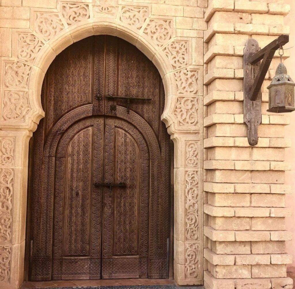 Dettaglio di una porta nella Medina di Agadir, Marocco.
