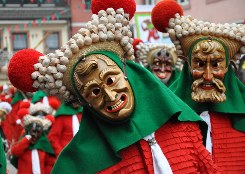 Erzacher Schutting, una delle rappresentazioni del diavolo più antiche del Carnevale Alemanno.