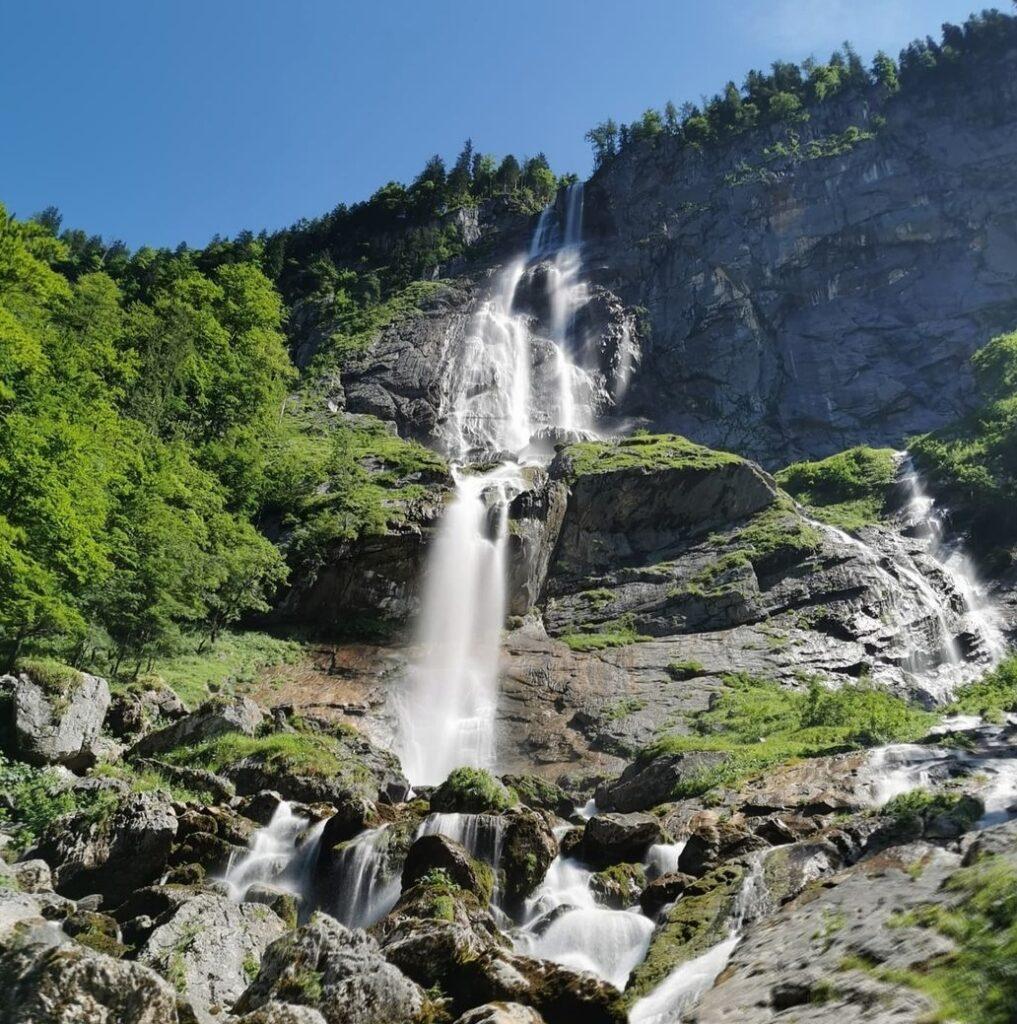 Germania in autunno: la cascata Röthbach nella parte alta del Berchtesgaden Nationpark